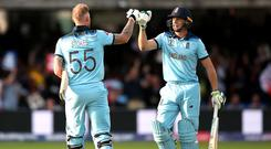Ben Stokes and Jos Buttler (right) spearhead Northern Superchargers and Manchester Originals (Nick Potts/PA)