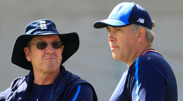Chris Silverwood, right, has succeeded Trevor Bayliss, left, as England head coach
