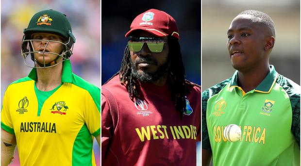 Steve Smith, Chris Gayle and Kagiso Rabada are among the big-price players in the draft (Nigel French/Mike Egerton/Tim Goode/PA)
