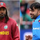 Rashid Khan, right, was selected first overall but Chris Gayle missed out (Adam Davy/Nigel French/PA)