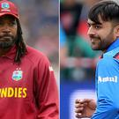 Rashid Khan (right) was selected first overall but Chris Gayle missed out (Adam Davy/Nigel French/PA)