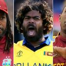 Chris Gayle (left), Lasith Malinga (centre) and Dwayne Bravo went unsold (Adam Davy/Simon Cooper/Andrew Matthews/PA)