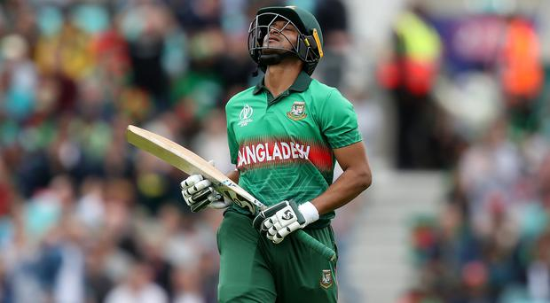 Shakib Al Hasan has been banned from all cricket by the ICC (Simon Cooper/PA)