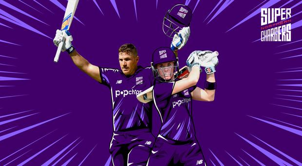 Northern Superchargers captains Aaron Finch and Lauren Winfield (ECB)