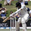 New Zealand's BJ Watling bats during play on day three of the first cricket test between England and New Zealand (Mark Baker/AP)