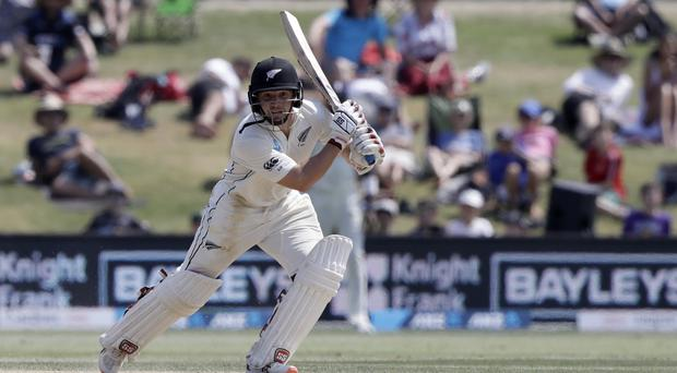New Zealand's BJ Watling bats during day four of the first Test between England and New Zealand (Mark Baker/AP)