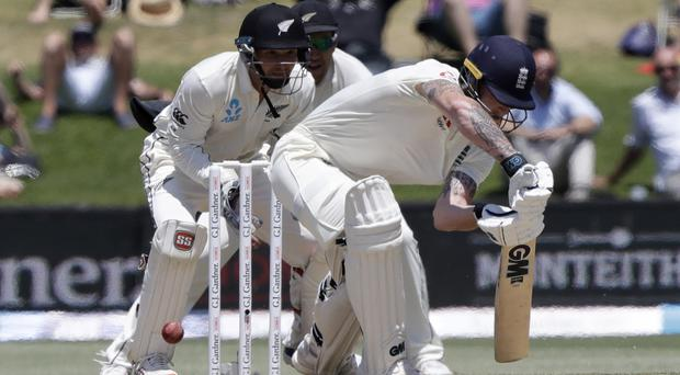 England's Ben Stokes, batting, was unable to rescue his side against hosts New Zealand (Mark Baker/AP)