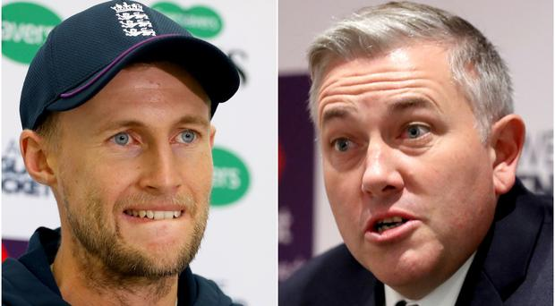 Chris Silverwood (right) wants to reduce the burden on captain Joe Root (Bradley Collyer/PA)