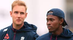 England's Stuart Broad (left) has told Jofra Archer he cannot expect to prosper with the ball in New Zealand (Mike Egerton/PA)
