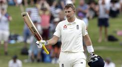 Joe Root hit a resolute century in Hamilton (Mark Baker/AP)