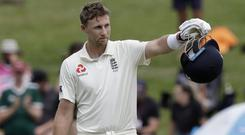 Joe Root hopes to lead England to victory on day five (Mark Baker/AP)