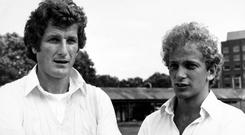 David Gower (right) was among those to pay tribute to Bob Willis (left) after his death aged 70 (PA)