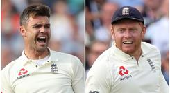 James Anderson (left) and Jonny Bairstow are set to return to England's Test squad (Adam Davy/PA)