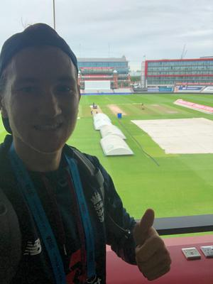 James Bracey on site at Emirates Old Trafford (James Bracey)
