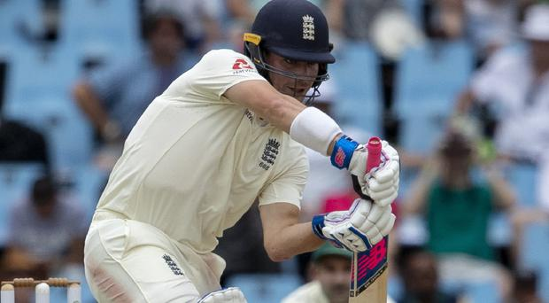 Rory Burns' 77 not out gave England hope in the third session (Themba Hadebe/AP)
