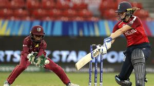 Nat Sciver scored her third half-century of the T20 World Cup in the win over West Indies (Rick Rycroft/AP)