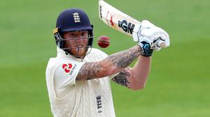 England's Ben Stokes batting during day five of the Second Test at Emirates Old Trafford, Manchester (Michael Steele/NMC Pool)