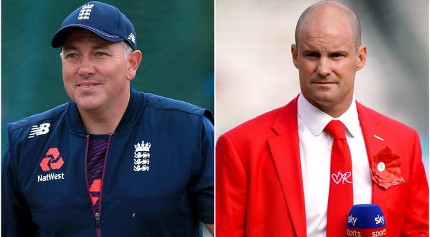 Andrew Strauss (right) believes Chris Silverwood (left) can inspire young county coaches (Mike Egerton/John Walton/PA)