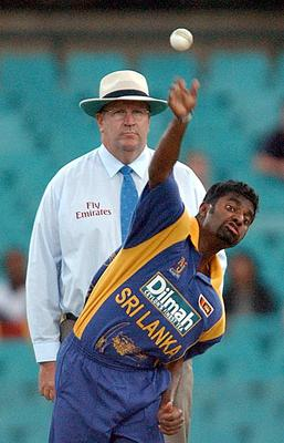 Murali Muralitharan took his first wicket aged 20 in 1992 (Rebecca Naden/PA)