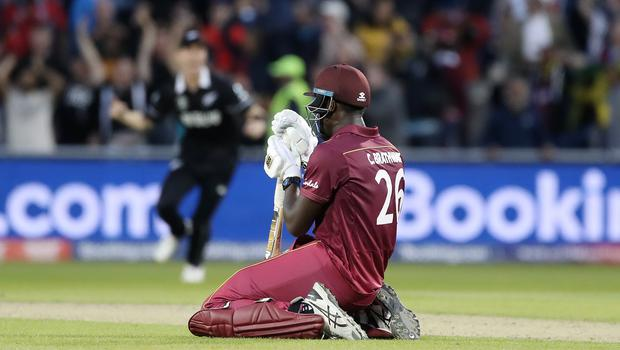 Carlos Brathwaite looked despondent after the defeat (David Davies/PA)