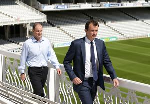 ECB chief executive Tom Harrison, right, says there will be no professional cricket played until it is safe to do so (Yui Mok/PA)