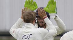 Joe Root picked up career-best figures (AP Photo/Michael Sheehan)