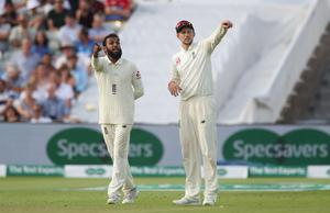 """Rashid, left, credited Joe Root with not """"badgering"""" him during his Test lay-off (Nick Potts/PA)"""