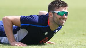 Mark Wood will keep smiling if England get the chance to compete this summer (Mike Egerton/PA)