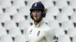 England batsman Ben Stokes has apologised for his language after being dismissed in Johannesburg (Themba Hadebe/AP)