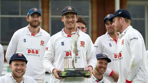 Tom Westley lifted the Bob Willis Trophy at Lord's (Steven Paston/PA)