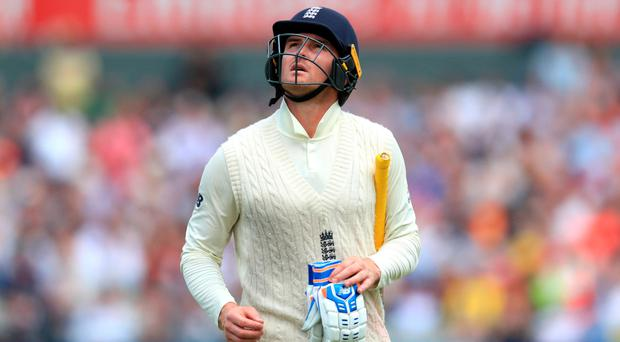 Dropping out: Jason Roy