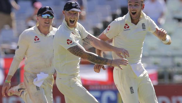 Stokes, centre, was influential at Newlands (AP)