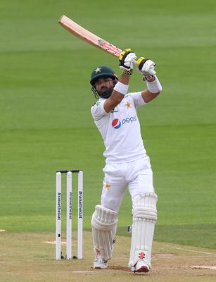 Mohammad Rizwan was the first of two wickets which fell on a fourth day dominated by rain (PA)