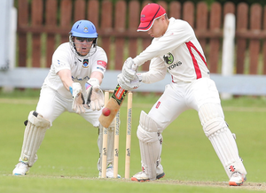 Big contribution: Adam Dennison was in fine form to hit 72 not out as Waringstown moved to joint top of the league final