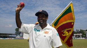 On this day in 2010 Sri Lanka's Muttiah Muralitharan became the first bowler to reach 800 Test wickets (Gareth Copley/PA)