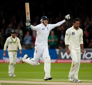 In 2010 against Pakistan, Broad hit his highest Test score of 169 (Gareth Copley/PA)