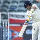 Joe Root hit 58 in England's second innings (Themba Hadebe/AP)