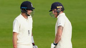 Ben Stokes (right) and Joe Root will resume for England on Monday morning (Jon Super/NMC Pool/PA)