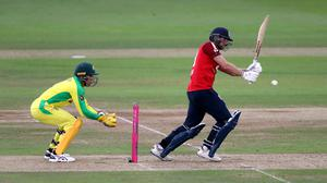 Dawid Malan scored 66 for England in the first Twenty20 international against Australia (Andrew Matthews/PA)