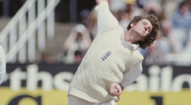 Ashes hero: Bob Willis bowls during the Australian Second Innings of the Third Ashes Test in July 1981 at Headingley Stadium