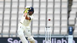 Rory Burns (pictured) and Dom Sibley reduced the West Indies' lead to double figures before stumps on day three (Mike Hewitt/NMC Pool/PA)