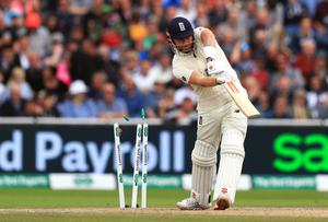 Jonny Bairstow was bowled by Mitchell Starc (Mike Egerton/PA)
