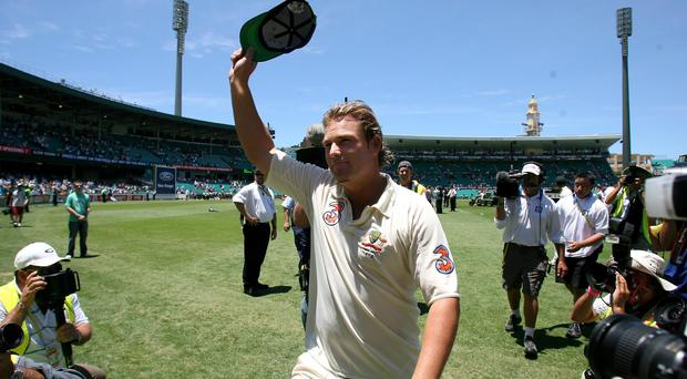 Shane Warne is raising money for the victims of the Australian fires (Gareth Copley/PA)