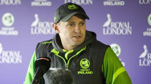William Porterfield is delighted to have a full-strength squad available for the tour of Zimbabwe and Namibia
