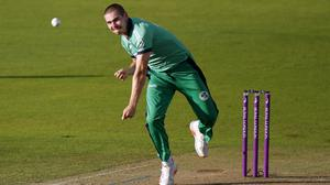 Ireland's Josh Little has been reprimanded by the ICC (Andrew Couldridge/PA)