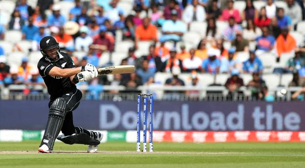 New Zealand added 28 runs to their total after returning to Old Trafford on the reserve day for their World CUp semi-final (David Davies/PA)
