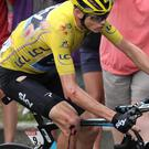 Lucky escape: Leader Chris Froome suffered a crash in the final 15km of stage 19 of the Tour de France but still widened his advantage