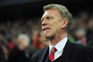 David Moyes, manager of Manchester United looks on during the UEFA Champions League Quarter Final second leg match between FC Bayern Muenchen and Manchester United