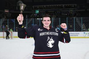 Trophy joy: Northeastern Huskies won last year's event