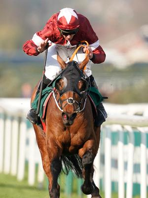 Grand feeling: Davy Russell and Tiger Roll win last year's National
